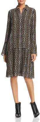 Lafayette 148 New York Sansa Printed Silk Shirt Dress
