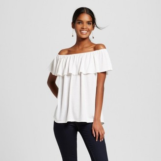 Mossimo Women's Striped Off The Shoulder Knit Top - Mossimo $19.99 thestylecure.com