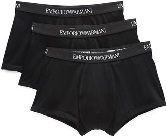 Emporio Armani 3 Pack Genuine Cotton Trunks