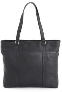 Royce New York Carryall Leather Tote