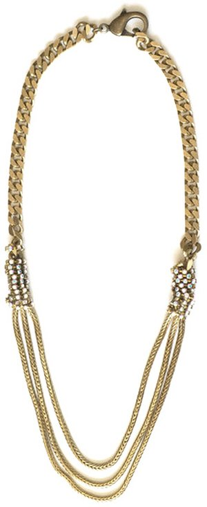 Luv Aj Twinkle Wrap Necklace in Gold