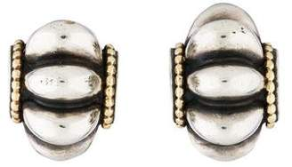 Lagos Two-Tone Clip-On Earrings