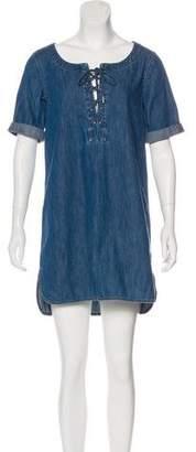 Rag & Bone Denim Lace-Up Mini Dress w/ Tags