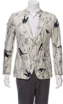 Dolce & Gabbana Printed Silk Blazer w/ Tags