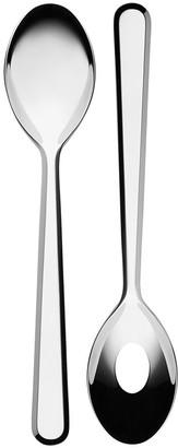 Alessi Amici Salad Servers - Stainless Steel