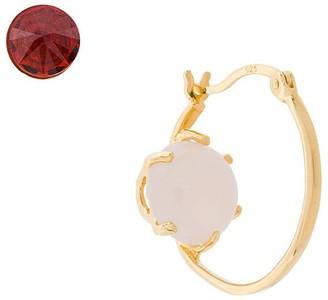 Iosselliani Puro Reversed rose quartz earrings