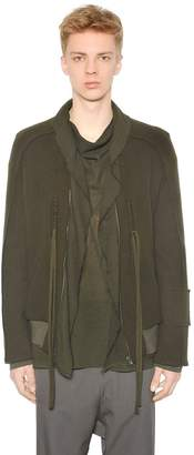 Damir Doma Wool Cloth Bomber Jacket W/ Draped Trim