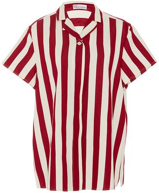 Red Valentino Striped Camp Shirt $450 thestylecure.com