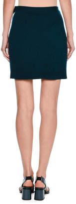 Tomas Maier Cashmere Wrap Miniskirt, Blue