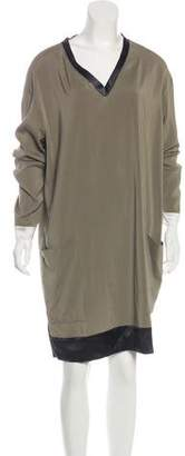 Brunello Cucinelli Long Sleeve Knee-length Dress