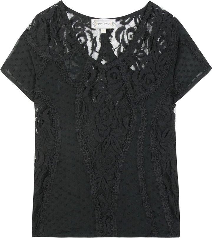 Beyond Vintage Lace V-neck Top
