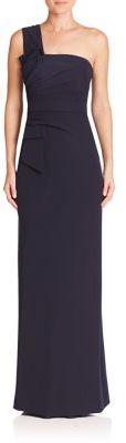 Armani Collezioni One-Shoulder Bow Gown $1,795 thestylecure.com