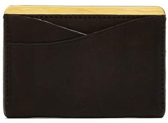 Lee Passavant And Leather And Gold Plated Cardholder - Mens - Black Gold