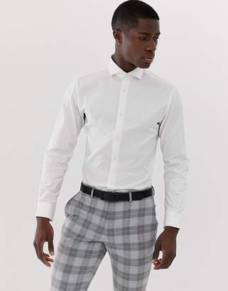 Selected Slim Fit Smart Shirt With Spread Collar