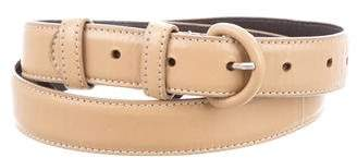 Oscar de la Renta Camel Leather Belt