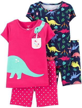 Carter's 4-pc. Pajama Set Toddler Girls