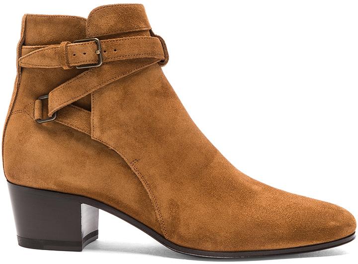 Saint LaurentSaint Laurent Suede Blake Buckle Boots