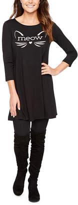 ST. JOHN'S BAY 3/4 Sleeve Halloween Swing Dresses