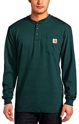 Carhartt Men's Workwear Pocket Long-Sleeve Henley Shirt