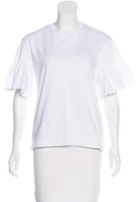 Victoria Beckham Victoria Rib Knit Short Sleeve T-Shirt