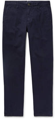 Incotex Navy Slim-fit Cotton-twill Chinos - Navy
