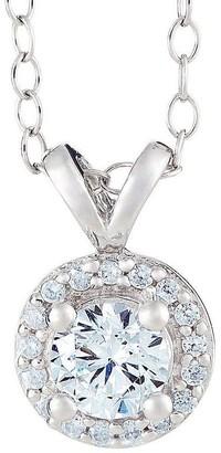 Affinity Diamond Jewelry Round Diamond Halo Pendant, 14K Gold, 3/4 cttw,by Affinity