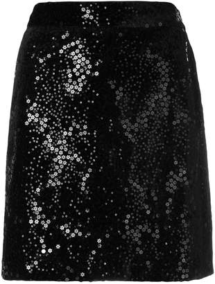 MICHAEL Michael Kors floral sequins embellished skirt