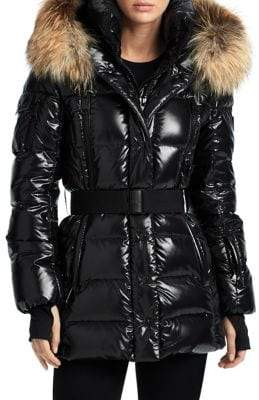 SAM. Millennium Fox Fur Trim Puffer Jacket