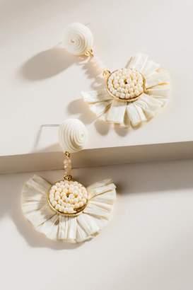 francesca's Cayden Raffia Earrings in Ivory - Ivory