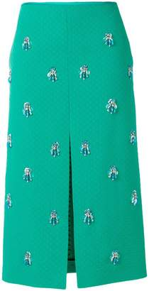 Emilio Pucci crystal-embellished textured midi skirt