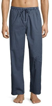 Derek Rose Nelson 58 Cotton Lounge Pants, French Navy $120 thestylecure.com