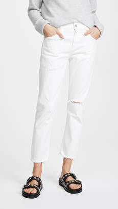A Gold E AGOLDE The Isabel Mid-Rise Slim Straight Jeans