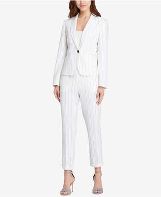Tahari ASL Striped One-Button Pantsuit, Regular & Petite