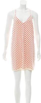 Alice + Olivia Silk Heart Print Dress