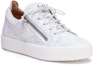 Giuseppe Zanotti Kriss Glitter white glitter sneakers