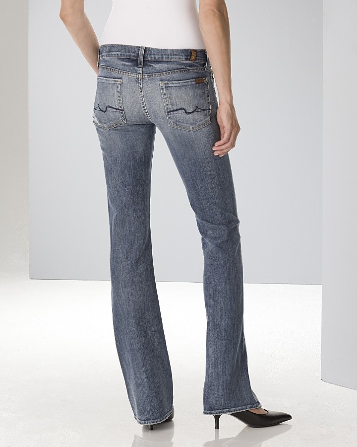 7 For All Mankind Women's Stretch Bootcut Jeans in Nakita Wash