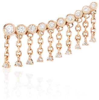 Rosegold Stone Paris Talitha 18kt rose-gold ear cuff with diamonds