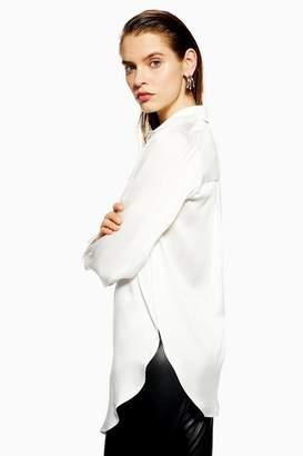 Topshop **Split Silk Shirt by Boutique