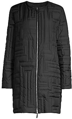 Lafayette 148 New York Women's Abdulla Geometric Quilted Mid-Length Coat