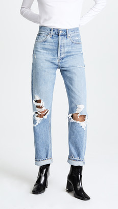 A Gold E Agolde '90s Fit Mid Rise Loose Fit Jeans