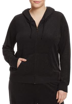 Juicy Couture Black Label Plus Black Label Robertson Microterry Zip Hoodie - 100% Exclusive