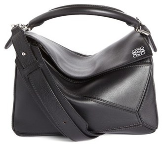 Loewe 'Small Puzzle' Calfskin Leather Bag - Black $1,990 thestylecure.com