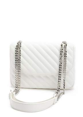 Forever 21 Faux Leather Chain-Strap Shoulder Bag