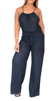 99966767702 LEISHOP Women s Rompers Spaghetti Strap Overall Jumpsuit Baggy Harem Pant  Jumper XL