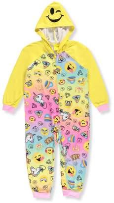 Komar Kids Emoji Favorites Hooded Onesie Pajama for girls (6/6X)