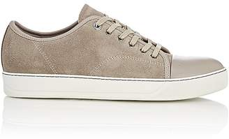 Lanvin Men's Suede & Leather Cap-Toe Sneakers
