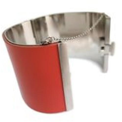 CelineCeline Glazing Leather Coral Pink M Bracelet