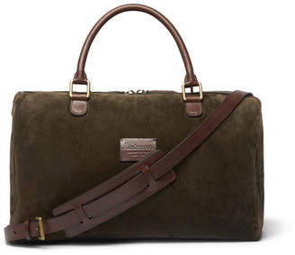 Andersons Anderson's Small Suede And Full-Grain Leather Holdall