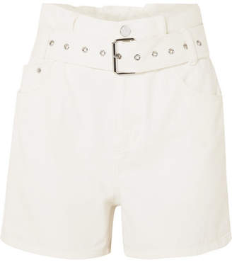 3.1 Phillip Lim Belted Denim Shorts - White