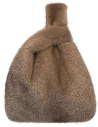 Simonetta Ravizza Furrissima Mink Fur Shopper Tote Bag, Cognac